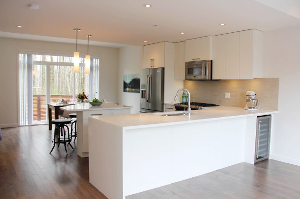 Kitchen at Rivendale duplexes, completed by Squamish home builder Diamond Head Development