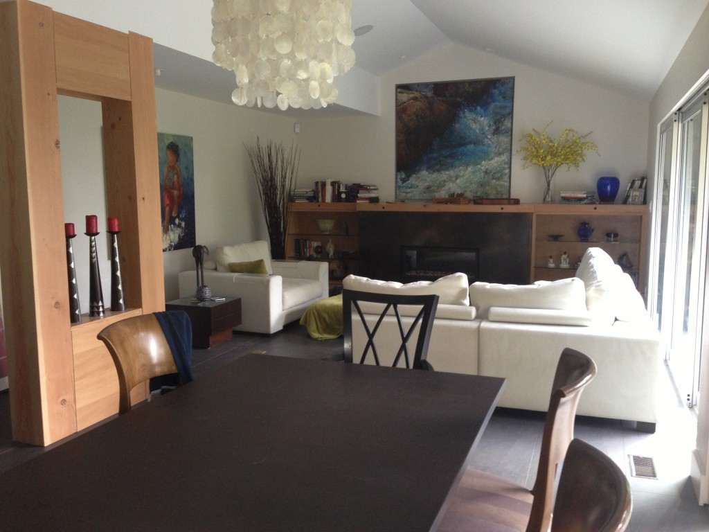 Living room renovation by Squamish general contractors.