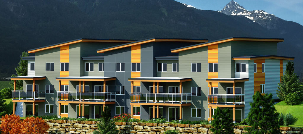 Park townhouse Squamish rendering with North West View